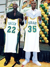Kevin Durant and Jeff Green