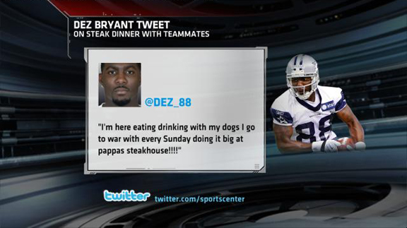Rookie Wr Dez Bryant Pays 54 896 Dinner Bill Sportscenter