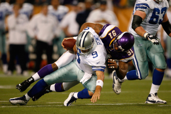 Ray Edwards sacking Tony Romo