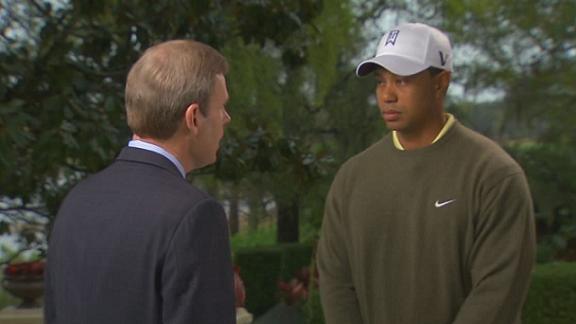 Tom Rinaldi and Tiger Woods